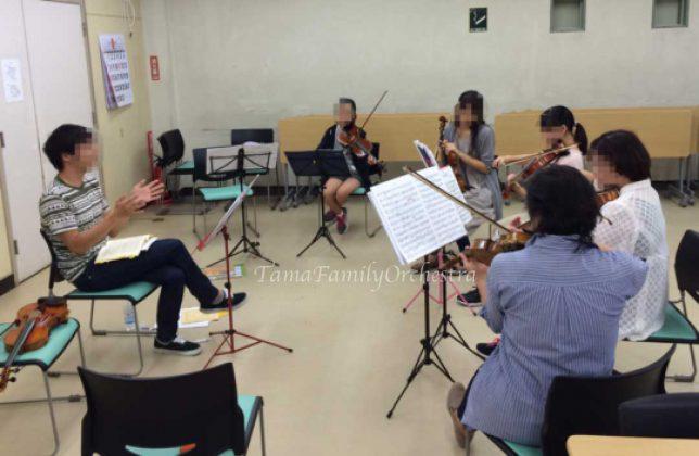 ヴァイオリンの練習風景