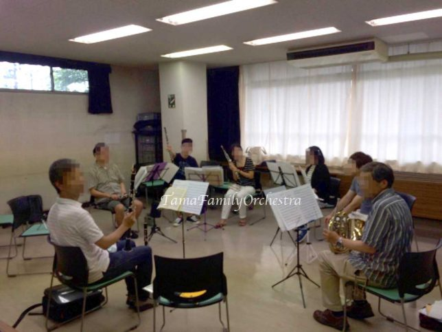 管楽器の練習風景