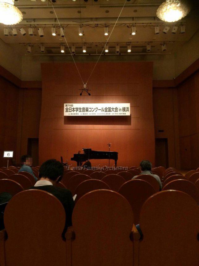 日本学生音楽コンクール本選会場の様子